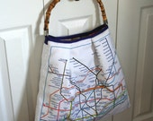 London Subway Underground Tube Map Market Bucket Book Bag