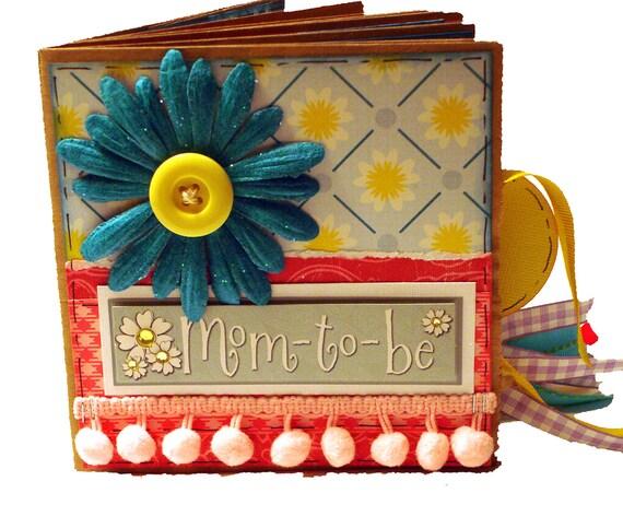 Mom to Be Pregnancy Scrapbook - Baby Paper Bag Album
