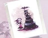 Happy Birthday Batty - Cute Macabre Birthday Card (Blank)
