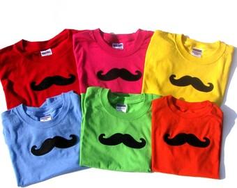 Black Felt/Cotton Handle Bar  Mustache...  Iron On Applique...Large Size
