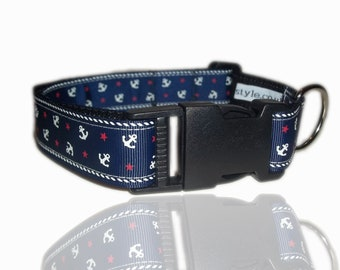 Ship Mate Nautical Sailor Dog Collar