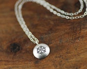 Tiny Silver Snowflake Necklace