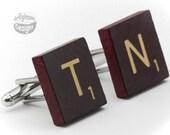Cufflinks - Scrabble Tile - Pick Your Letters