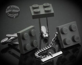 LEGO Cufflinks & Tie Tack Set