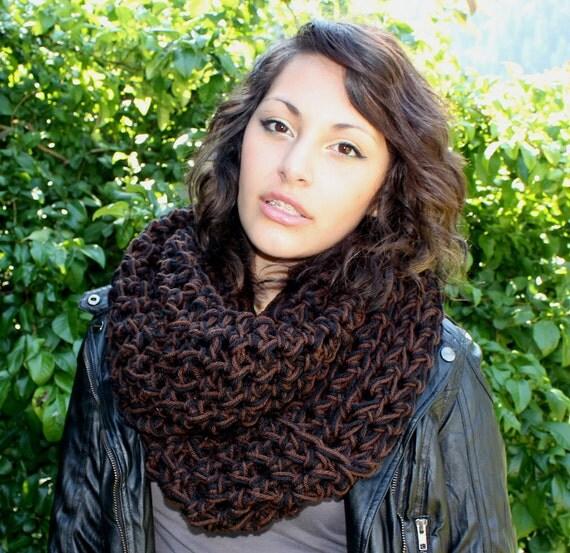 SALE WOOD Rasta Love Cowl Hood Vegan scarf French toast brown black