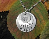Personalized Aluminum Stamped 3 Tiered Necklace