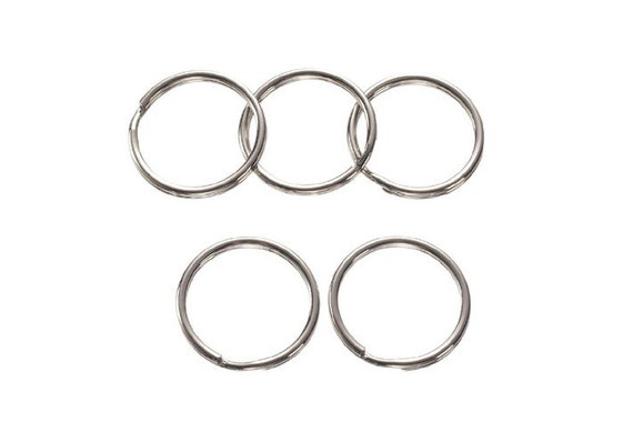 32mm Steel Nickel Plate Split Key Rings set of 30