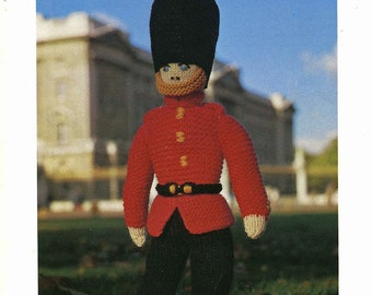 "Vintage Knitted Brave Soldier Soft Toy, 19.3/4"" (49cm) Knitting Pattern, 1960/1970 (PDF) Pattern, DS 12"