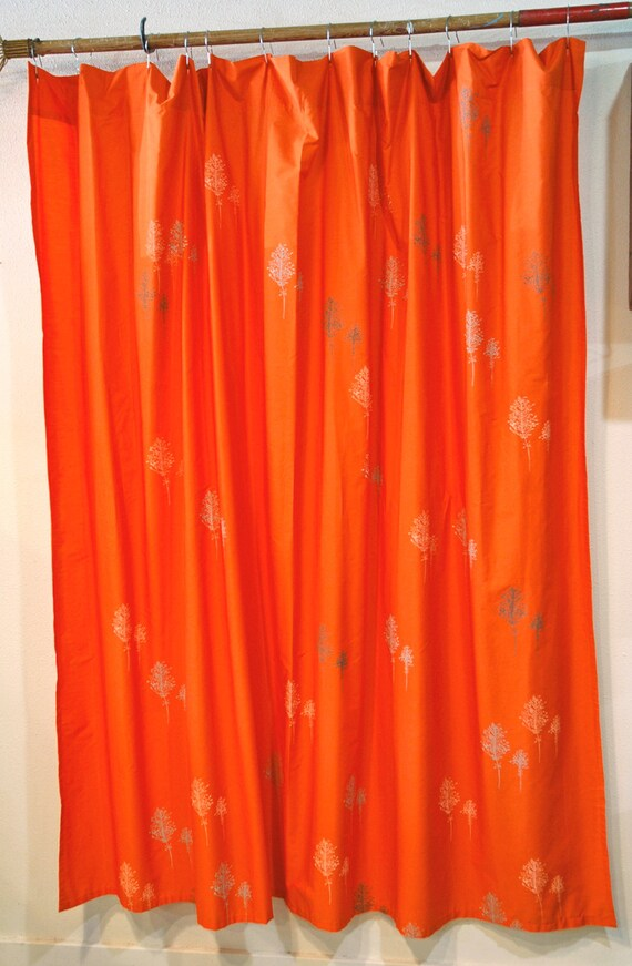 Zenith Curved Shower Curtain Rod Mint and Coral Shower Curtain