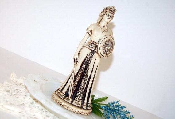 SALE Beautiful (FEATURED) Armienian Goddess Vintage Collectibles Athena Minerva Nane Statue Sword Shield Souvenir Home Decor Antique