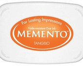 Orange ink pad for rubber stamps  Tangelo Memento stamp pad --9119
