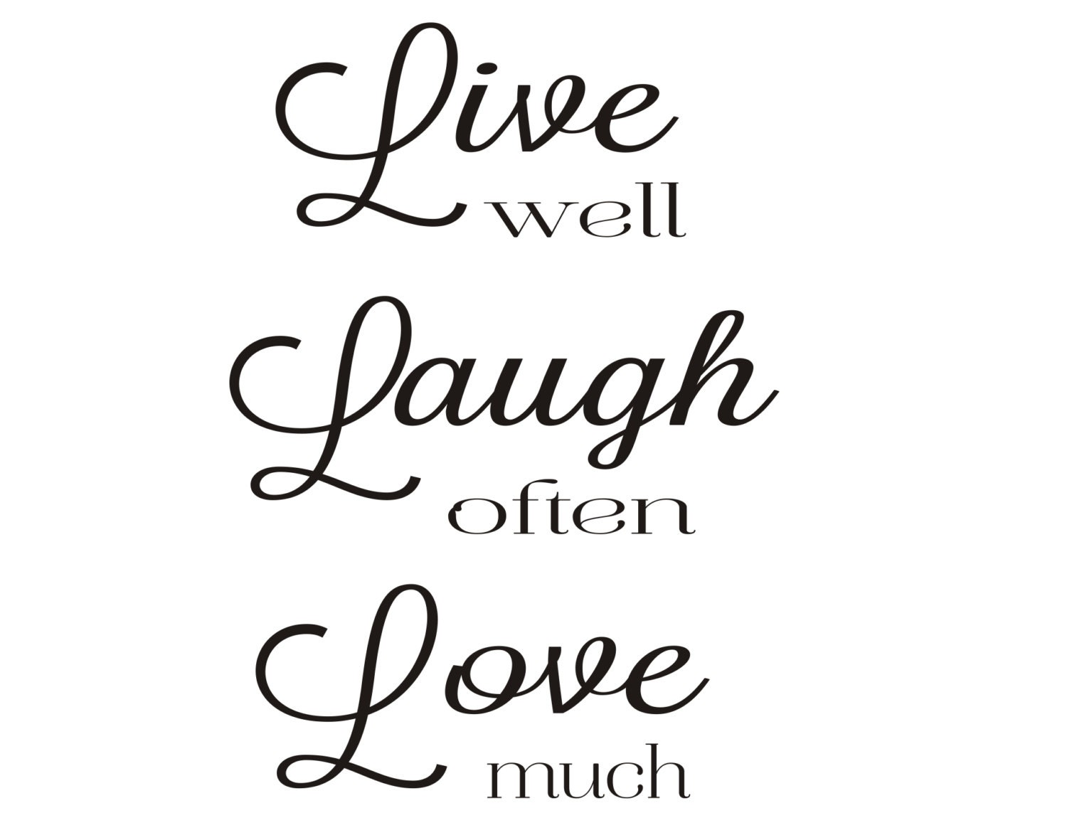 live well laugh often love much rubber stamp by stampoutonline. Black Bedroom Furniture Sets. Home Design Ideas