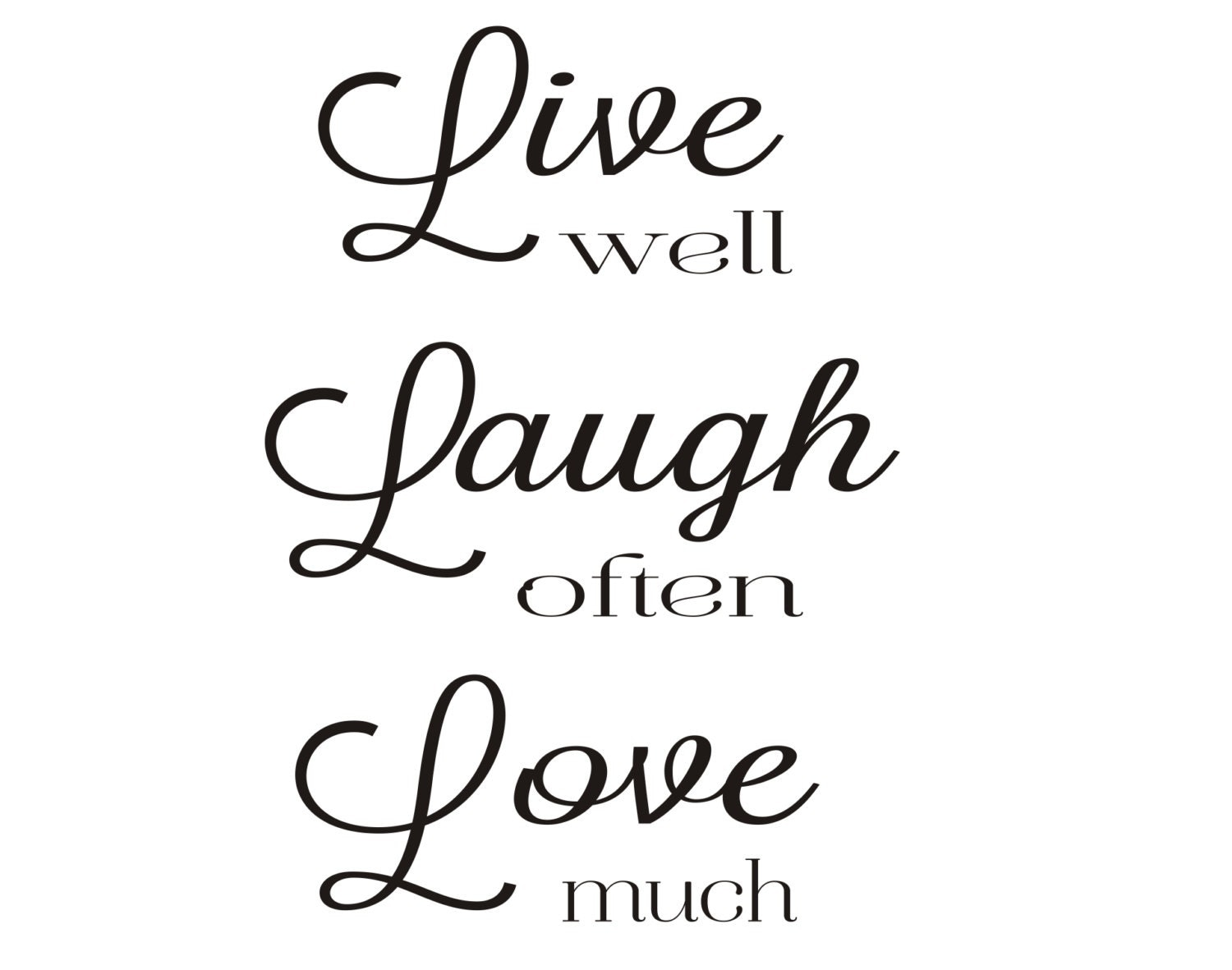 Live Laugh Often Love Much : live well laugh often love much rubber stamp by stampoutonline ~ Markanthonyermac.com Haus und Dekorationen