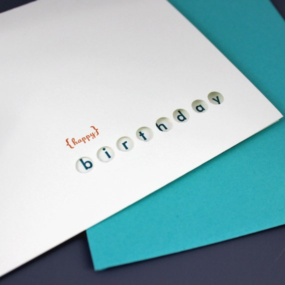 Happy Birthday Circles Letterpress Card