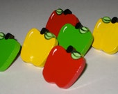 Apple Push Pins for Bulletin Board Red Yellow and Green