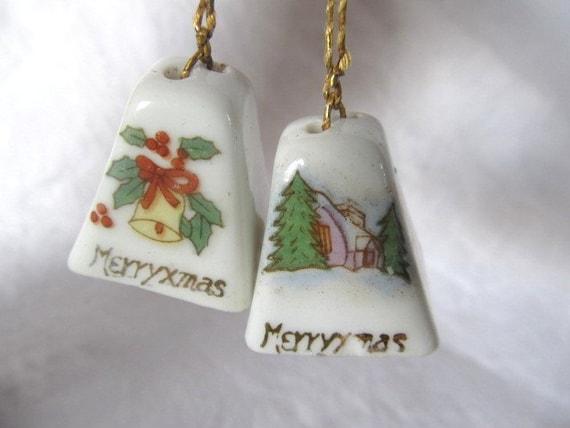 Vintage s porcelain christmas bell by auntsuesvintage