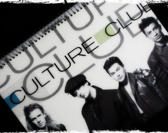 Culture Club Recycled Album Cover Handmade Notebook Scrapbook Journal Diary