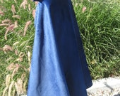 Royal Blue Velvet Cape, Lined  Size child to small adult