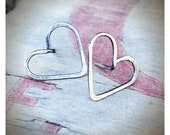 Itty Bitty Hearts - Sterling Silver Heart Earrings