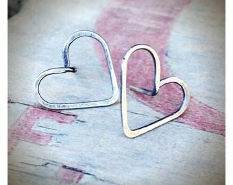 Itty Bitty Hearts - Sterling Silver Heart Earrings