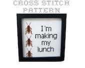DIY  I'm making my lunch - .pdf Original Cross Stitch Pattern - Instant Download