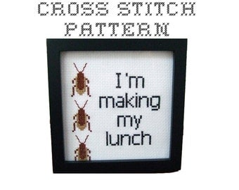 DIY  I'm making my lunch - .pdf Original Cross Stitch Pattern - Instant Download