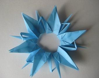 """100 Origami Crane 6"""" Light Blue"""