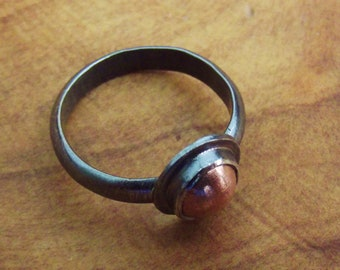 Copper, Sterling Silver Ring OOAK