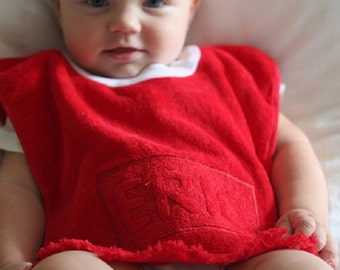 Valentine's Day for the Little Ones -- Embroidered Personalized Embossed Baby Bib