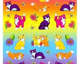 Lisa Frank Sunflower Kittens Sticker Sheet