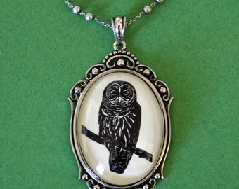 Sale 20% Off // OWL Necklace, pendant on chain - Silhouette Jewelry // Coupon Code SALE20