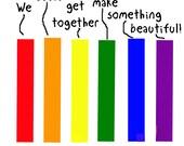 LGBT COLORS UNITE print