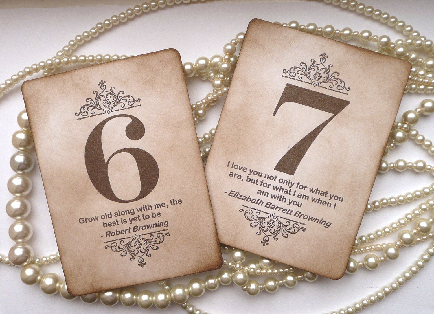 Wedding table numbers vintage table numbers quotes table for Table numbers