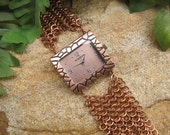 European Chainmaille Watch - Copper