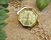 Octagonal Face Chainmaille Watch - Gold Filled