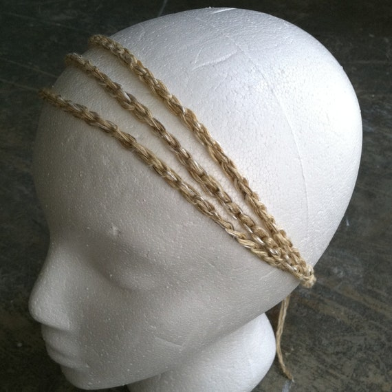 Crocheted headbands, Hair Tamer, hair tie convertible, Workout, Ash Blonde, or You Choose Color