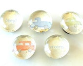 Things That Go Bubble Magnets - Set of 5 Magnets