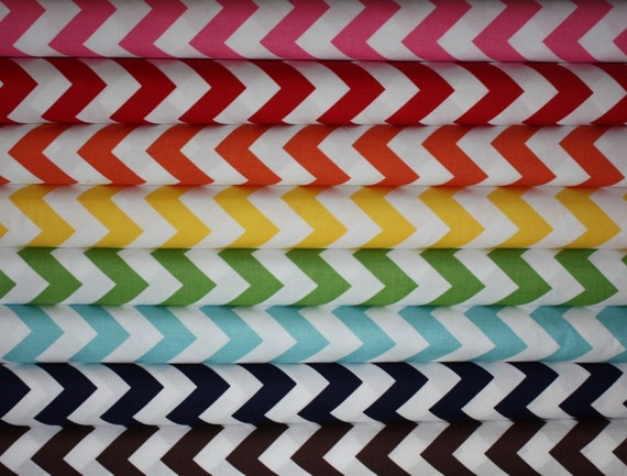 Chevron fabric bundle by Riley Blake Designs- Half Yard Bundle- 8 total