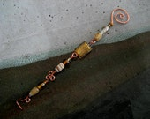 copper glass beaded wickwand candle snuffer ornament handmade