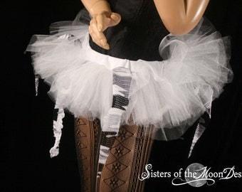 UV Camo tutu skirt mini micro Adult white race gogo dance team costume raver culb wear -You Choose size - Sisters of the Moo