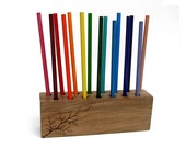 Simplicity No 3 - Back To Nature - College bound - Organic Natural Maple Display Pencil Holder Rack by Tanja Sova