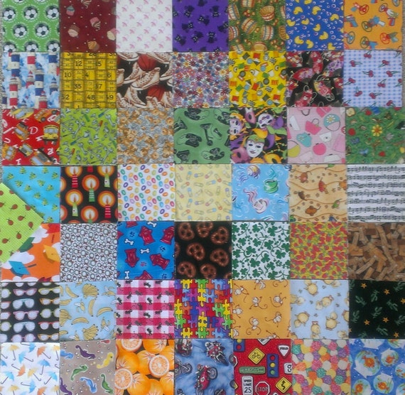 "MATCHING I spy quilt  4"" squares kit"