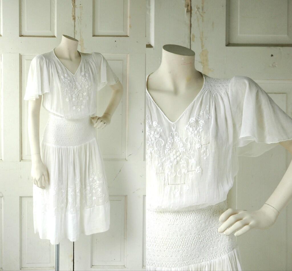 1930s Wedding Dress Vintage Cotton Dress