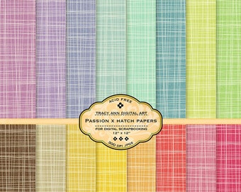 Crosshatch Digital Paper for scrapbooking, card making, Invites, photo cards Passion