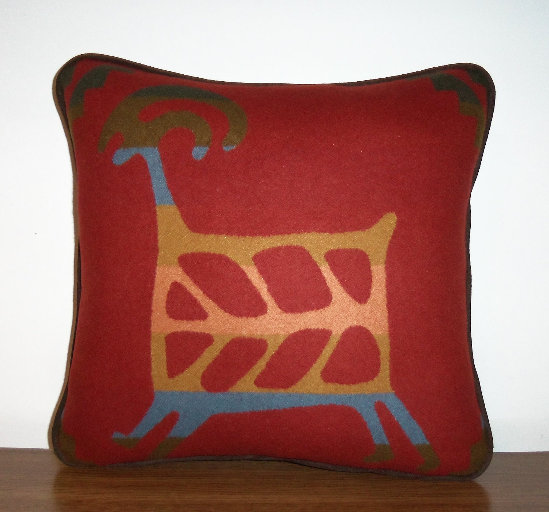 Pendleton Wool Pillow Decorator Throw Lodge Rock Art Southwest