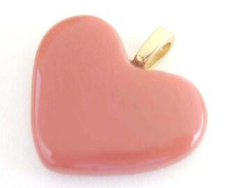 Pink Heart Pendant, Fashion Jewelry, Valentines Heart - My Very Best Friend - 3206 -2