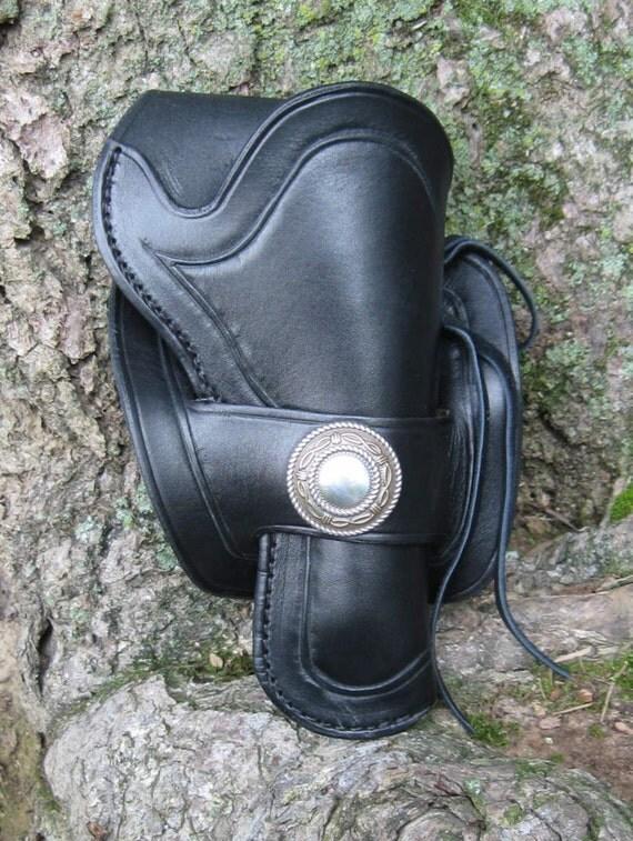 "Leather Western Half-Skirt Holster 4 3/4"" barrel"