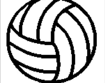 INSTANT DOWNLOAD Volleyball afghan crochet cross stitch pattern.pdf