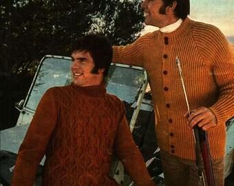 Vintage Knitting Patterns for Men 1970s