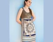 Original Couture Mandala Embellished Silk Dress